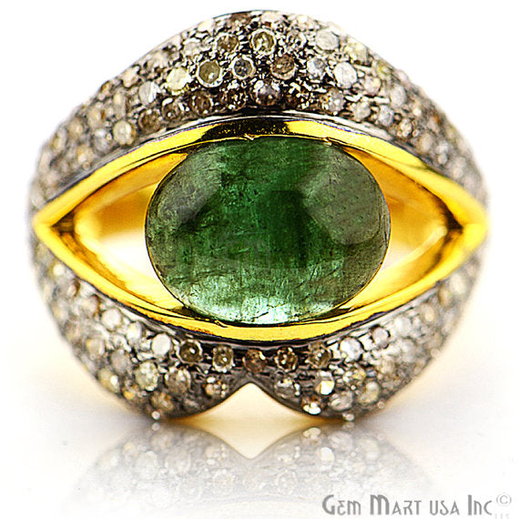 Victorian Estate Ring, 470 cts Emerald with 238 cts of Diamond as Accent Stone (DR-12149)