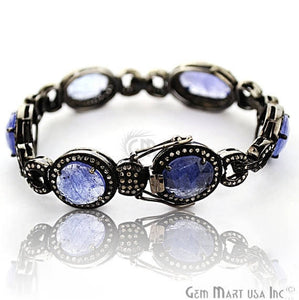Victorian Estate Bracelet, 19.73 cts Sapphire, With 18.5 cts of Diamond as Accent Stone (DR-12182) - GemMartUSA
