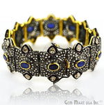 Victorian Estate Bracelet, 8 cts Natural Sapphire, 1.28 cts of Sliced Diamond With 428 cts of Diamond as Accent Stone (DR-12185)