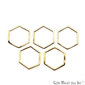 Hexagon Finding, 14mm Gold Finding, Filigree Findings, Bracelets Charm