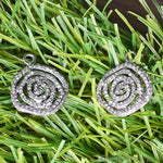 Pave Spiral Diamond Charm, Sterling Silver Necklace Charm Pendant (NDCH-40130)