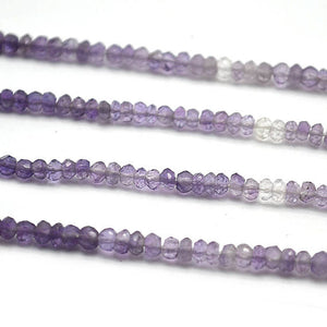 Amethyst Shaded Micro Faceted Rondelle 3-4mm 13Inch Length AAAmazing quality Jewelry Making Supply Beads (RLAA-70010) - GemMartUSA