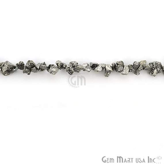 1 Strand Black Pyrite AAA High Quality Rough Nugget 10Inch length Jewelry Making Supply (Rlbp-70011)