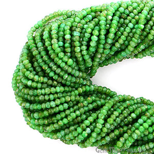 1 Strand AAA Chrysoprase Micro Faceted Rondel 3-4mm 13Inch Length Amazing quality 100 Percent Natural (RLCP-70005) - GemMartUSA