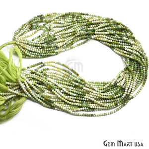 Green Shaded Opal Faceted Gemstones Rondelle Beads, Jewelry Making Supply Beads (RLGS-70000)