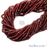 Garnet Micro Faceted Rondel 3-4mm 13Inch Length AAAmazing quality 100 Percent Natural (RLGT-70002)