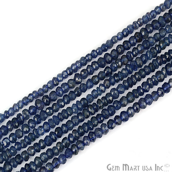 AAAmazing Quality 1 Strands Iolite Micro Faceted 3-4mm Gemstone Beads Rondelle 13Inch Length (RLIO-70002)