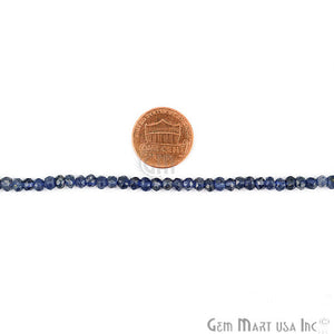 AA Amazing Quality 1 Strands Iolite Micro Faceted 3-4mm Gemstone Beads Rondelle 13Inch Length (RLIO-70002) - GemMartUSA
