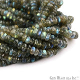1 Strand Micro Faceted AAA Quality Natural Labradorite 10Inch Full Length 7-8mm Round Rondelle (RLLB-70026)