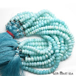 Blue Opal Faceted Gemstones Rondelle Beads, Jewelry Making Supply Beads (RLLO-70013)