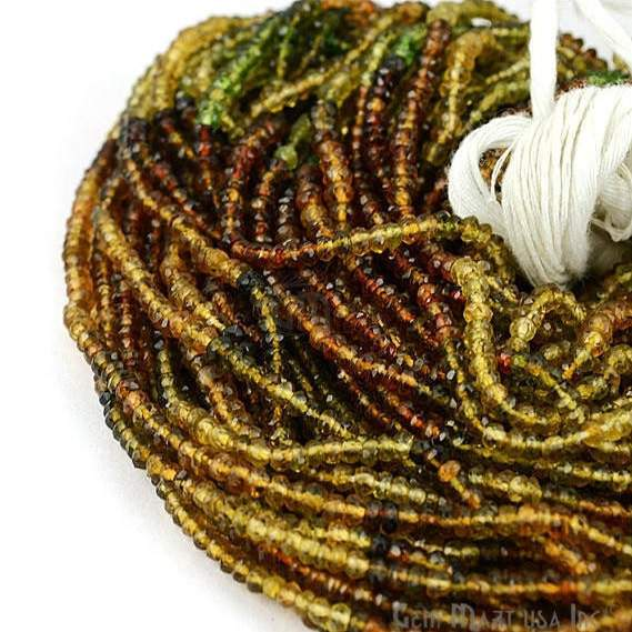 1 Strand Faceted AAA Quality Natural Petrol Tourmaline 13Inch Full Length 25-3mm Gemstone Beads (RLTP-70028)