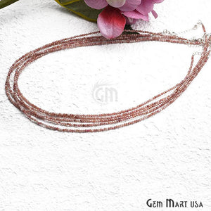 Pink Opal Bead Chain, Silver Plated Jewelry Making Necklace Chain - GemMartUSA