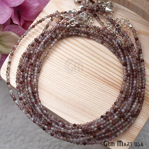 Strawberry Quartz Bead Chain, Silver Plated Jewelry Making Necklace Chain - GemMartUSA