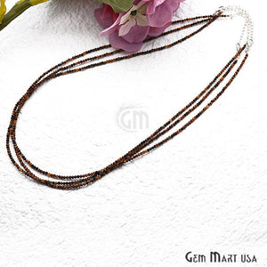 Tiger Eye Bead Chain, Silver Plated Jewelry Making Necklace Chain - GemMartUSA