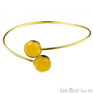 yellow chalcedony interlock bracelets