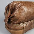 Large leather wash bag