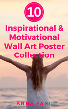 Load image into Gallery viewer, Motivate yourself to wake up every day and live your best life and become your best you with these wall art collection