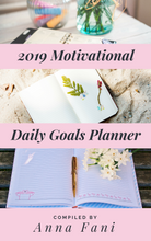 Load image into Gallery viewer, Make everyday great with this 2019 motivational daily goals planner.