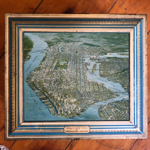 """Aeroplane View of Manhattan Island"" box"