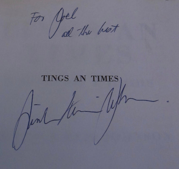 Linton Kwesi Johnson Tings and Times Signed copy