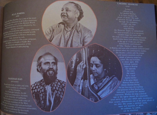 George Harrison and Ravi Shankar 1974 Tour Program