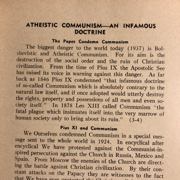 Anti Communist Encyclical