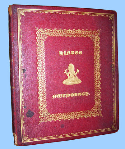 Hindu Mythology in Indian Binding, with printing in gold