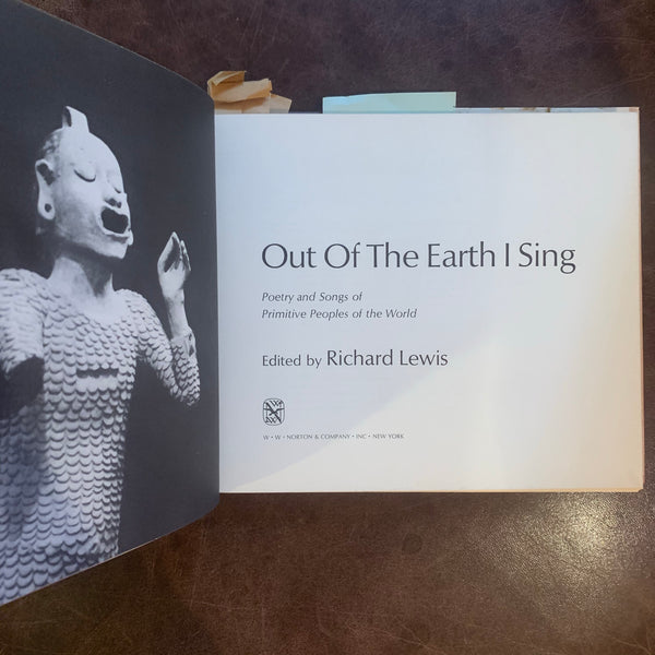 Out of the Earth I Sing edited by Richard Lewis