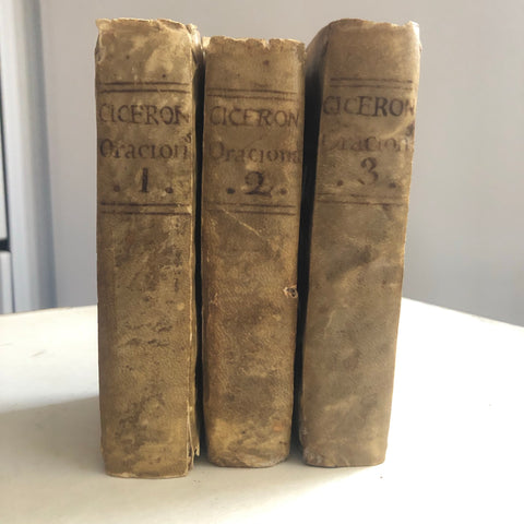 Cicero in cool vellum bindings