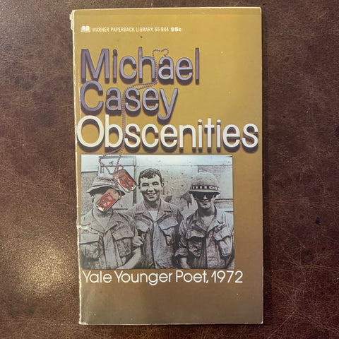 Obscenities by Michael Casey poetry