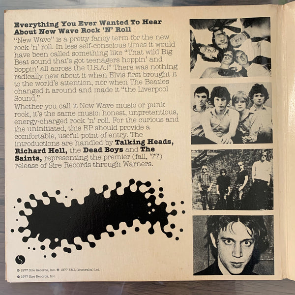 New Wave promotion including Talking Heads, Richard Hell et. al.