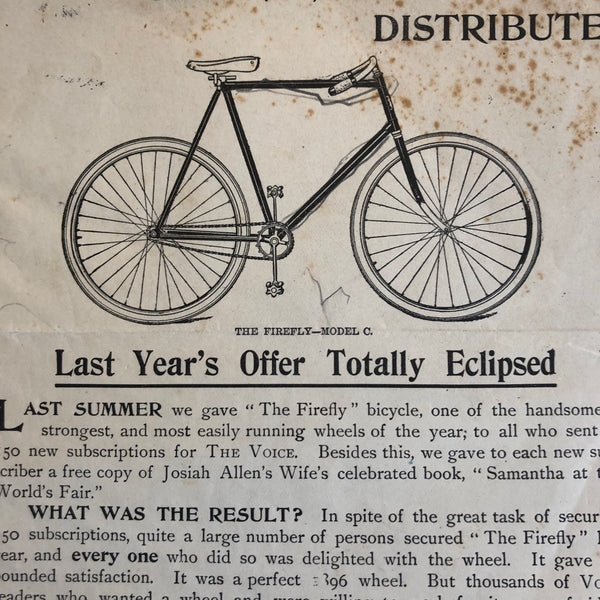Bicycle promotional 1897