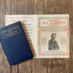 Private Sex Lessons of a Physician advertisement and book by David H. Reeder