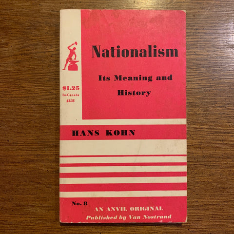 Nationalism by Hans Kohn