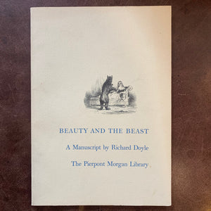 Beauty and the Beast manuscript by Richard Doyle