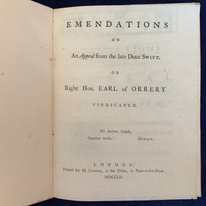 Emendations of the Appeal
