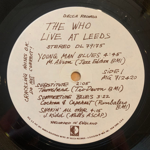 The Who - Live at Leeds