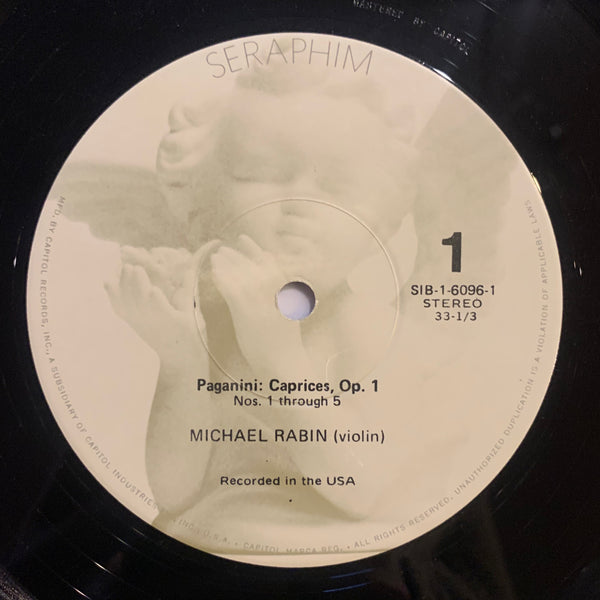 Paganini The Complete Caprices, Michael Rabin -violin