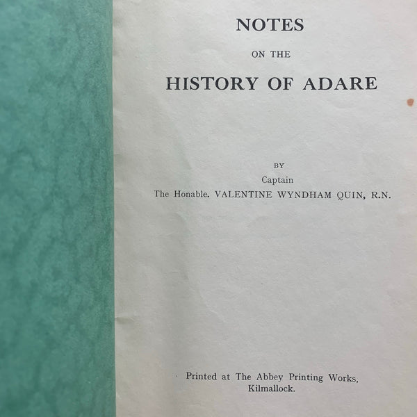 Notes on the History of Adare