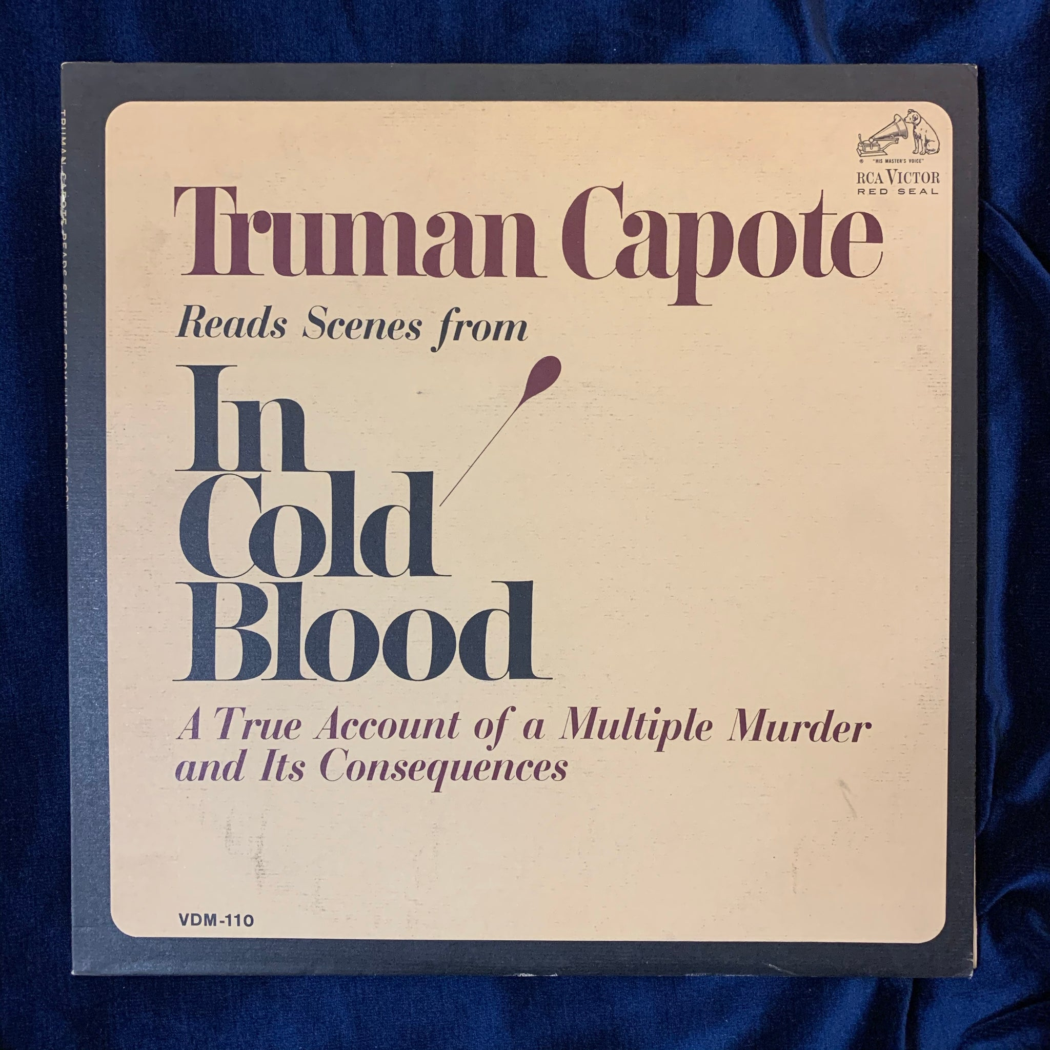 Truman Capote read scenes from In Cold Blood