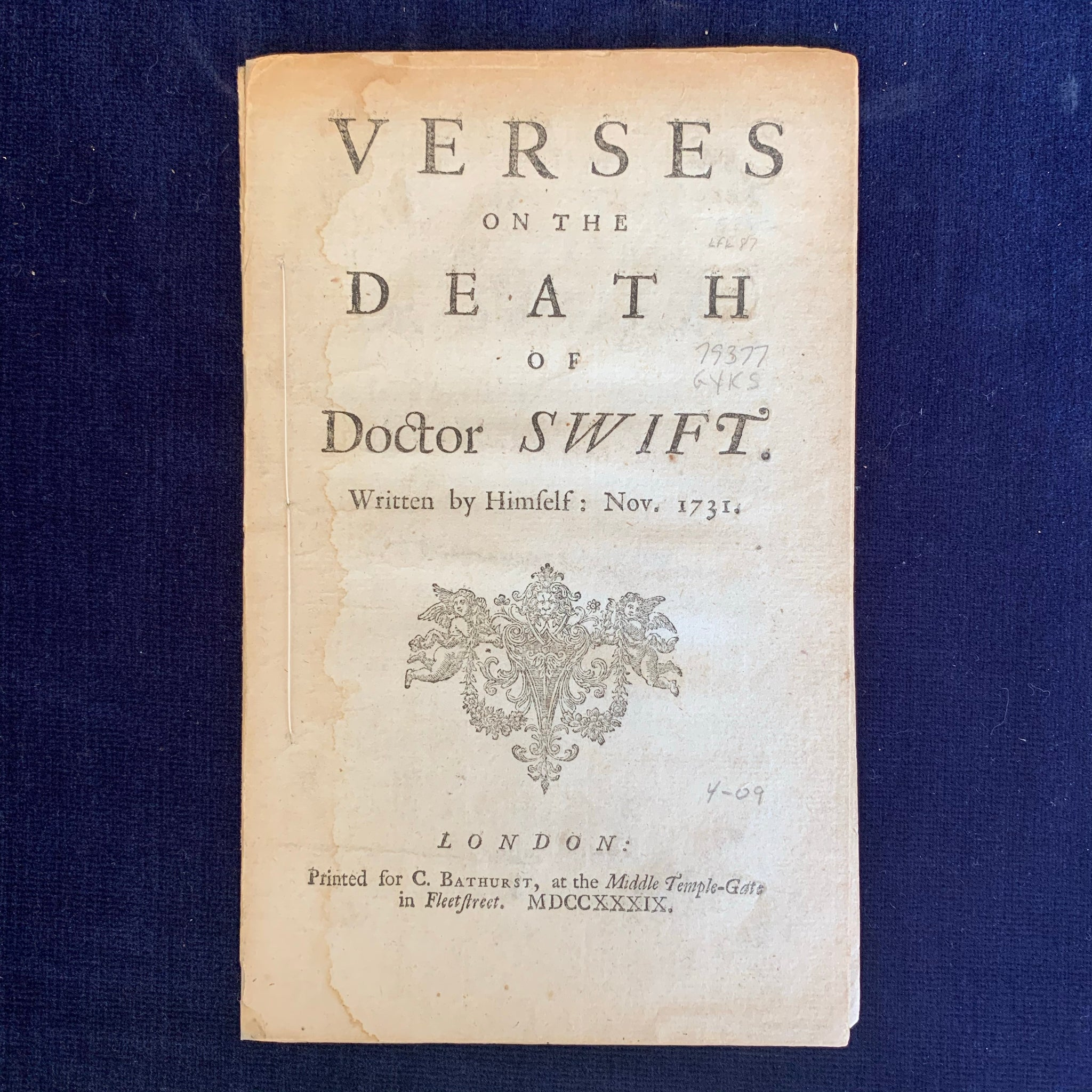 Verses on the Death of Doctor Swift