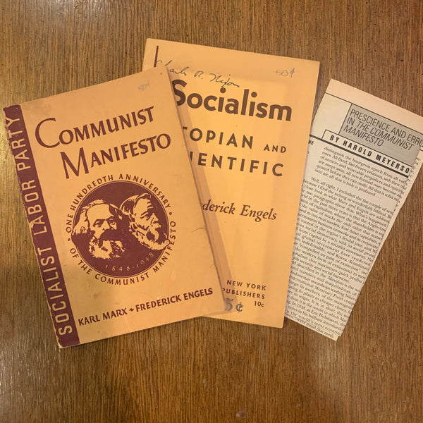 100th Anniversary Communist Manifestó and Socialism Utopian & Scientific Pamplets