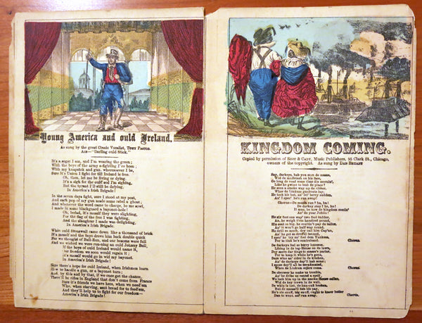 Rare Civil War song panorama