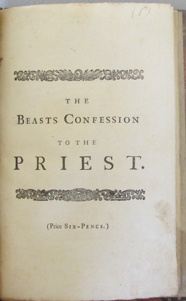 The Beasts Confession to the Priest by Jonathan Swift