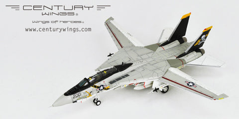 Century Wings 001619 1/72 F-14 F-14A Tomcat U.S.Navy VF-84 Jolly Rogers AJ200 1978 USS NIMITS (Flap & Slat Down) Diecast Model Aircraft