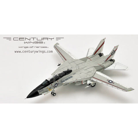 Century Wings 001620 1/72 F-14 F-14A Tomcat U.S.Navy VF-41 Black Aces AJ100 1978 USS NIMITZ (Flap & Slat Down) Diecast Model Military Aircraft