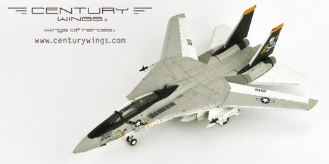 Century Wings 001621 1/72 F-14A Tomcat U.S.Navy VF-84 Jolly Rogers AJ202 1978 (Normal Version) Diecast Model Military Aircraft