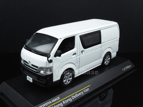 Tiny 003027 1/43 Toyota Hiace 2012 Delivery Van in Hong Kong White Diecast Model Road Car