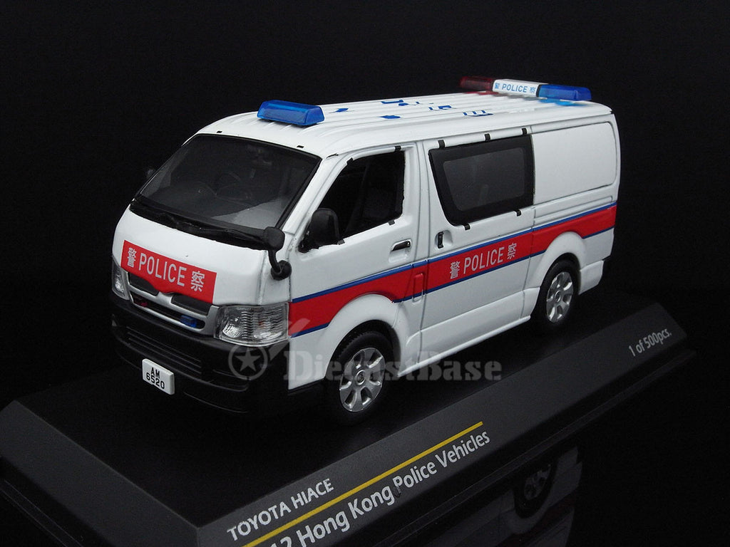 1/43 Toyota Hiace Tiny 003029  ~ top view ~ taken by DiecastBase