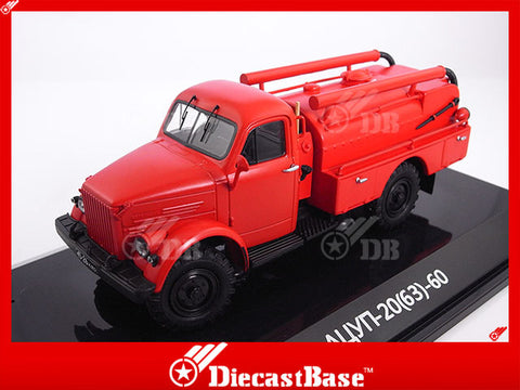 DiP Models 106302/AD4310A 1/43 GAZ-63 Fire Engine Emergency Resin Model Road Car